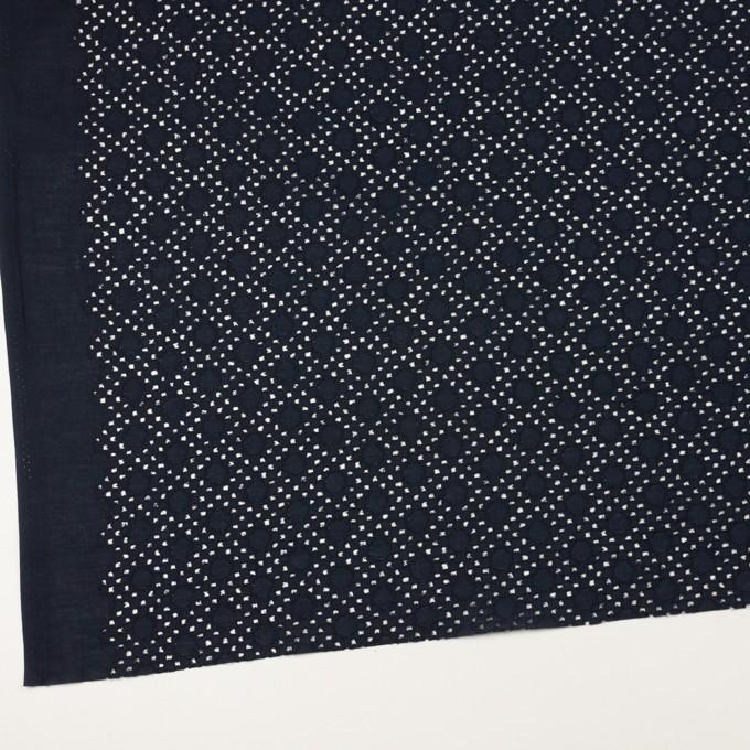 コットン×サークル(ダークネイビー)×ローン刺繍_全3色 イメージ2