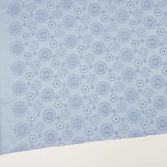 コットン×フラワー(ペールブルー)×ボイル刺繍_全2色 イメージ2