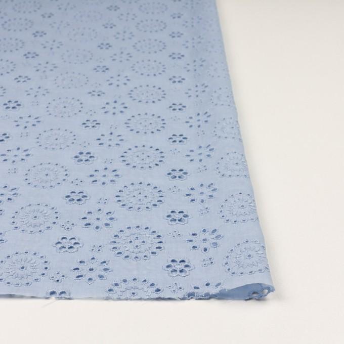 コットン×フラワー(ペールブルー)×ボイル刺繍_全2色 イメージ3