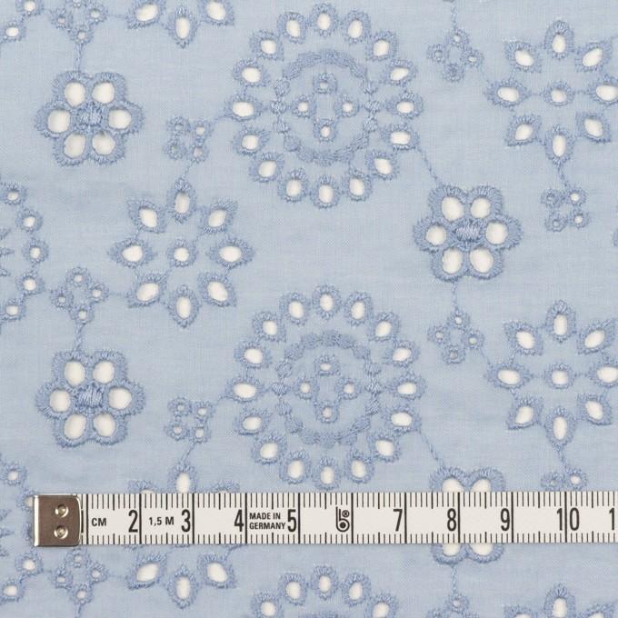 コットン×フラワー(ペールブルー)×ボイル刺繍_全2色 イメージ4