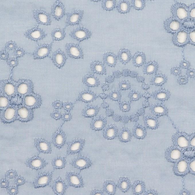コットン×フラワー(ペールブルー)×ボイル刺繍_全2色 イメージ1