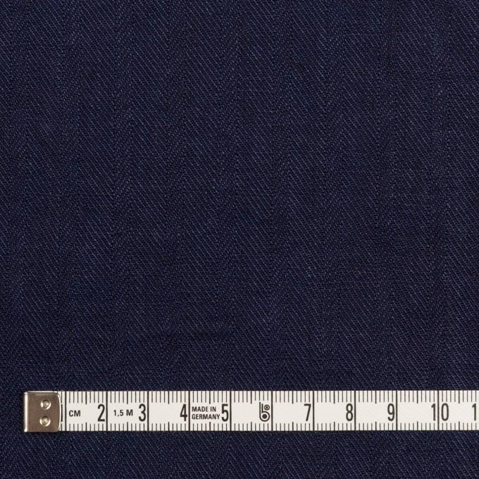 リネン×無地(インディゴ)×ヘリンボーン・ワッシャー イメージ4