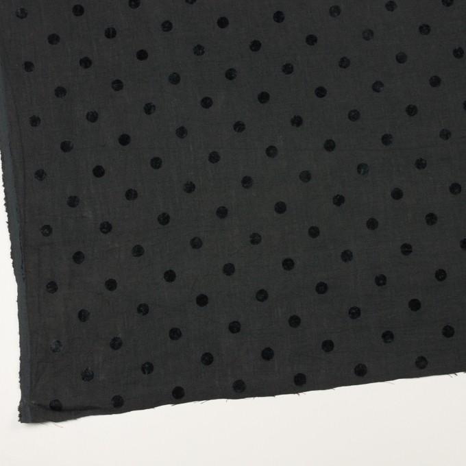 コットン&リネン×水玉(チャコール)×薄キャンバス イメージ2