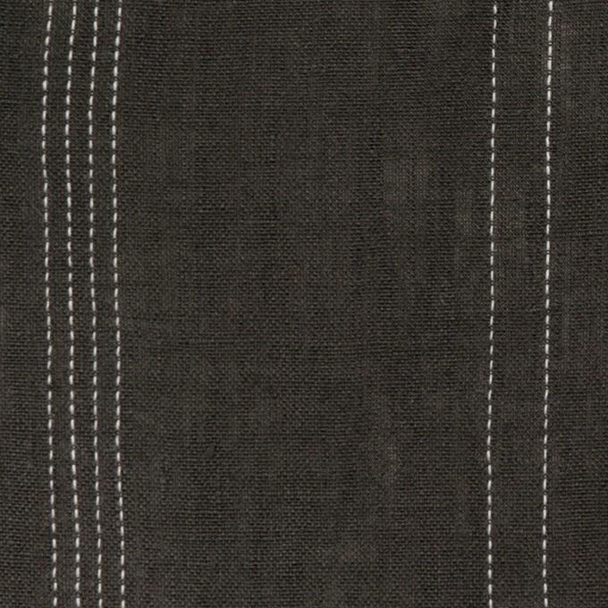 リネン×ストライプ(チャコール)×薄キャンバス イメージ1
