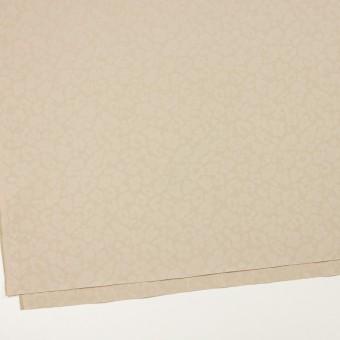 コットン&ポリエステル混×レオパード(ベージュ)×ジャガード・ストレッチ サムネイル2