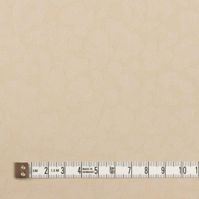 コットン&ポリエステル混×レオパード(ベージュ)×ジャガード・ストレッチ イメージ4