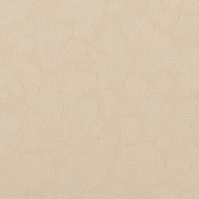 コットン&ポリエステル混×レオパード(ベージュ)×ジャガード・ストレッチ イメージ1