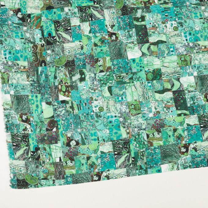 リネン×パッチング(エメラルド)×薄キャンバス_全3色 イメージ2