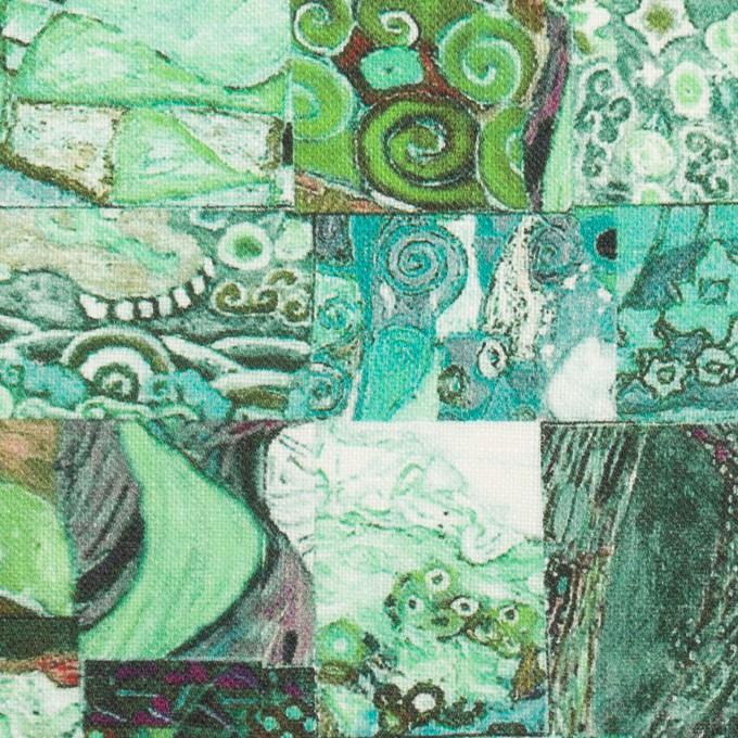 リネン×パッチング(エメラルド)×薄キャンバス_全3色 イメージ1