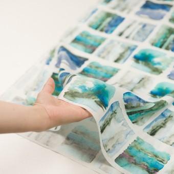 リネン×スクエア(ブルー)×薄キャンバス_全3色 サムネイル5