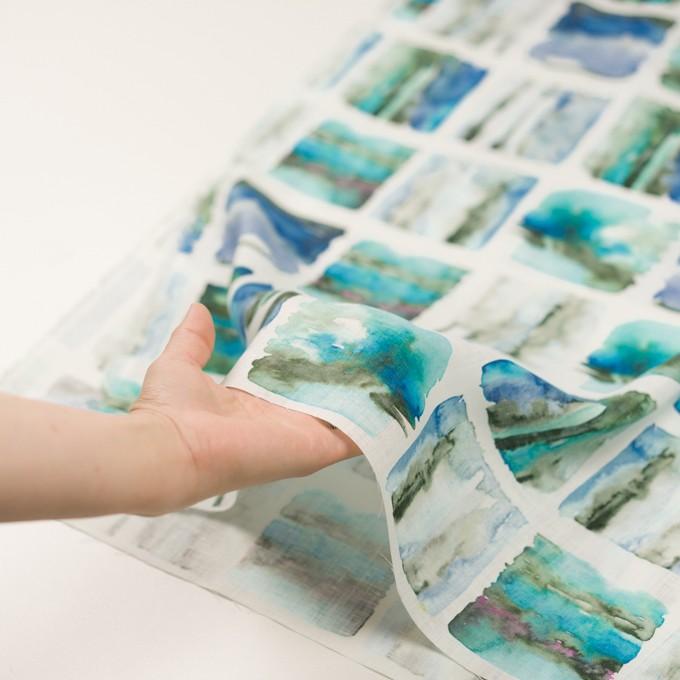 リネン×スクエア(ブルー)×薄キャンバス_全3色 イメージ5