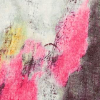 リネン×シェル(ピンク&ライム)×薄キャンバス_全3色