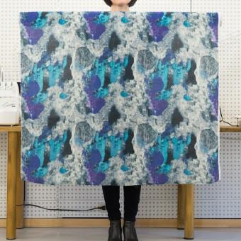 リネン×シェル(エメラルドブルー&パープル)×薄キャンバス_全3色 サムネイル6