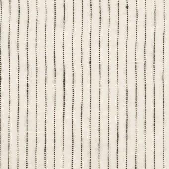 リネン×ストライプ(ミルク&ブラック)×キャンバス・ワッシャー サムネイル1