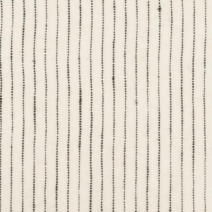 リネン×ストライプ(ミルク&ブラック)×キャンバス・ワッシャー イメージ1