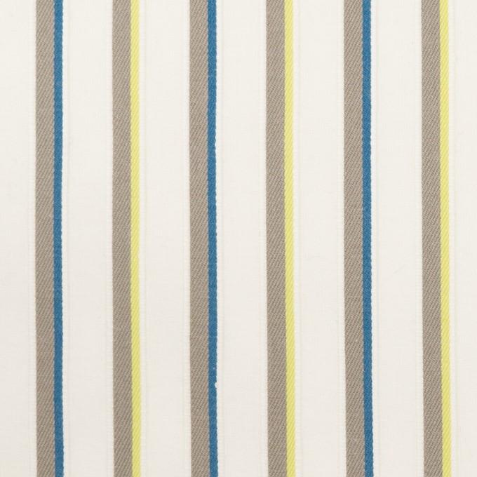 コットン&ポリウレタン×ストライプ(ホワイト&アッシュグレー)×ブロードジャガード イメージ1