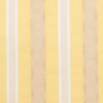 コットン&ポリエステル×ストライプ(イエロー)×ローンジャガード_全3色 サムネイル1