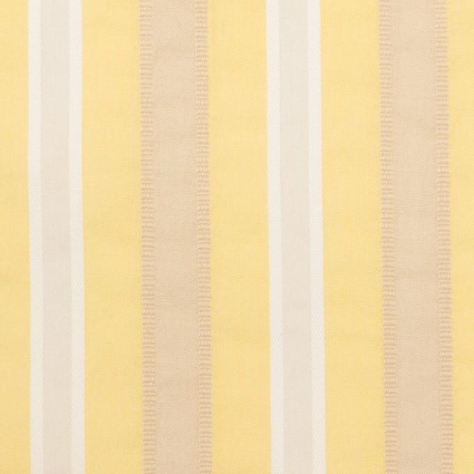 コットン&ポリエステル×ストライプ(イエロー)×ローンジャガード_全3色 イメージ1