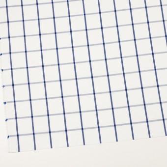 コットン×チェック(ホワイト&ブルー)×ブロード_全3色 サムネイル2