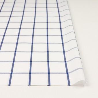 コットン×チェック(ホワイト&ブルー)×ブロード_全3色 サムネイル3