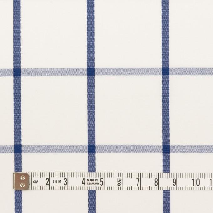 コットン×チェック(ホワイト&ブルー)×ブロード_全3色 イメージ4