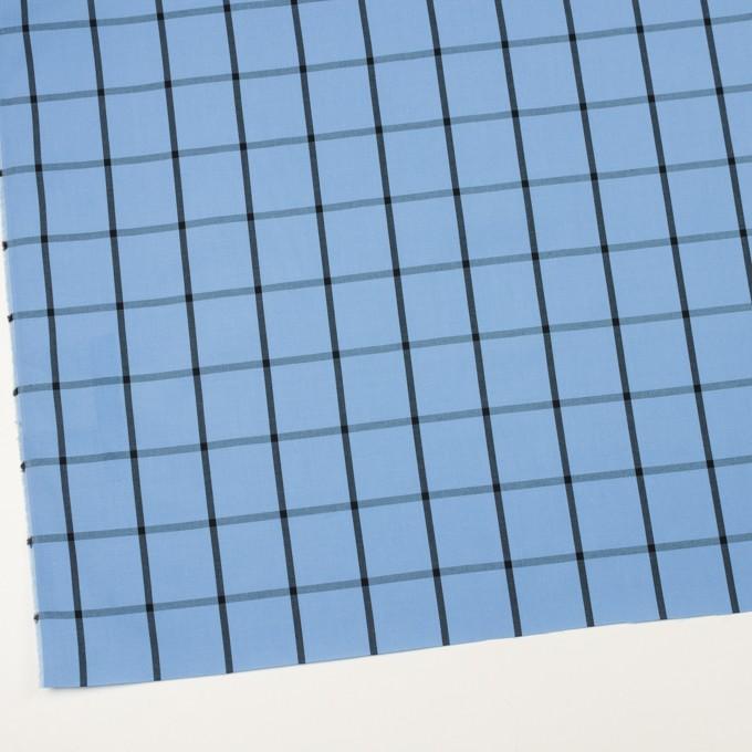 コットン×チェック(ネイビーブルー&ブラック)×ブロード_全3色 イメージ2