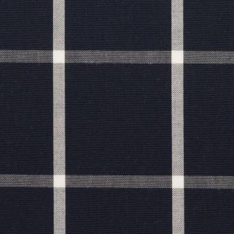 コットン×チェック(ダークネイビー&ホワイト)×ブロード_全3色 サムネイル1