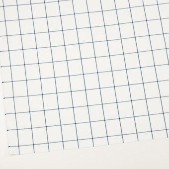コットン×チェック(ホワイト&ネイビーブルー)×薄サージ サムネイル2