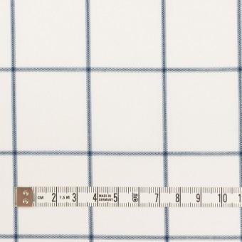 コットン×チェック(ホワイト&ネイビーブルー)×薄サージ サムネイル4