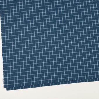 コットン×チェック(アッシュネイビー&ブルーグレー)×薄サージ サムネイル2