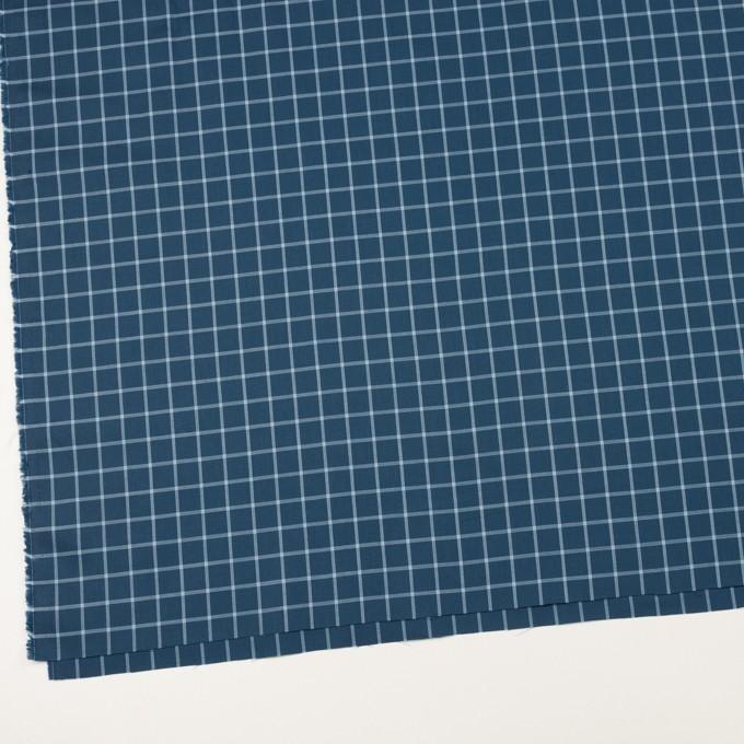 コットン×チェック(アッシュネイビー&ブルーグレー)×薄サージ イメージ2