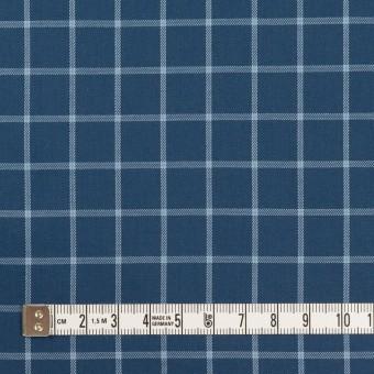 コットン×チェック(アッシュネイビー&ブルーグレー)×薄サージ サムネイル4