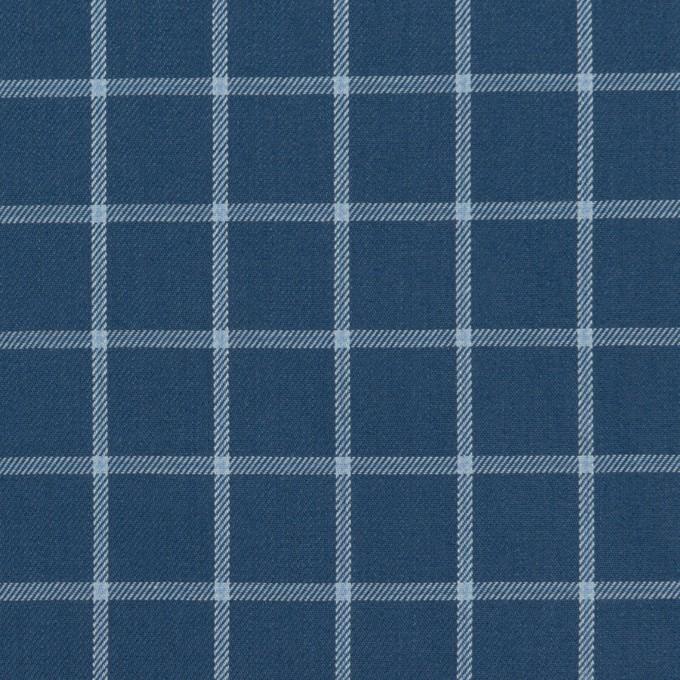 コットン×チェック(アッシュネイビー&ブルーグレー)×薄サージ イメージ1
