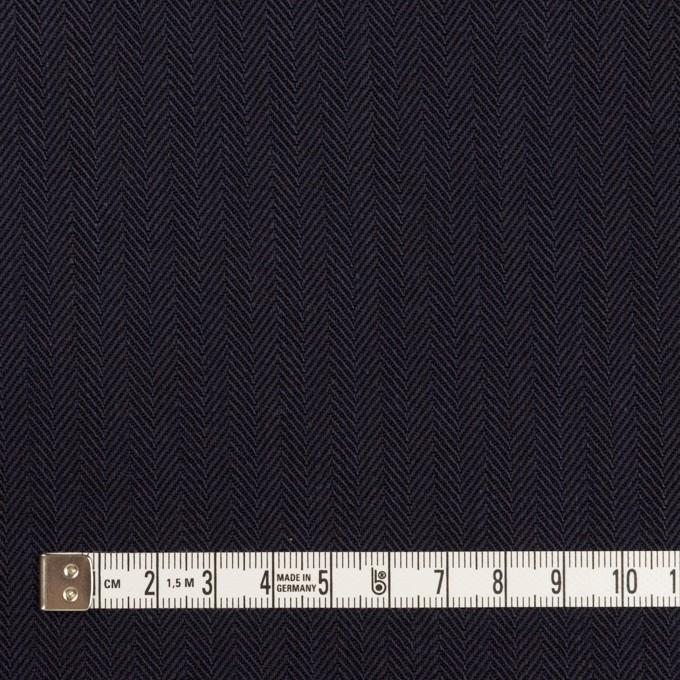 コットン×無地(ダークネイビー)×ヘリンボーン イメージ4