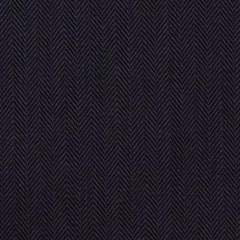 コットン×無地(ダークネイビー)×ヘリンボーン サムネイル1