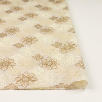 コットン×フラワー(ベージュ)×オーガンジー刺繍_全4色 サムネイル3