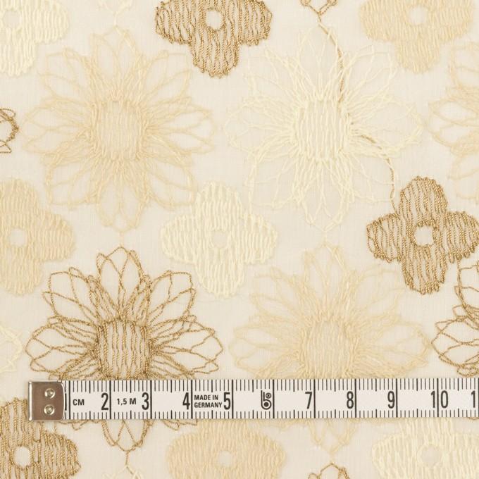 コットン×フラワー(ベージュ)×オーガンジー刺繍_全4色 イメージ4