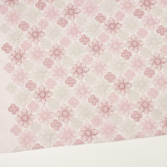 コットン×フラワー(モーブ)×オーガンジー刺繍_全4色 イメージ2