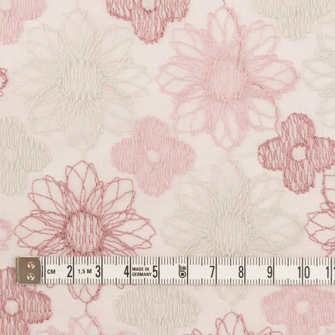 コットン×フラワー(モーブ)×オーガンジー刺繍_全4色 イメージ4