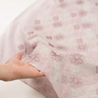 コットン×フラワー(モーブ)×オーガンジー刺繍_全4色 サムネイル5