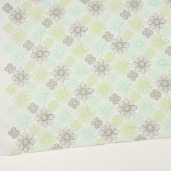 コットン×フラワー(ミント)×オーガンジー刺繍_全4色 サムネイル2