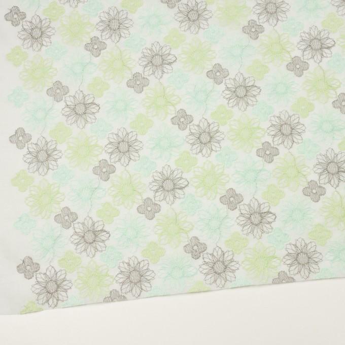 コットン×フラワー(ミント)×オーガンジー刺繍_全4色 イメージ2