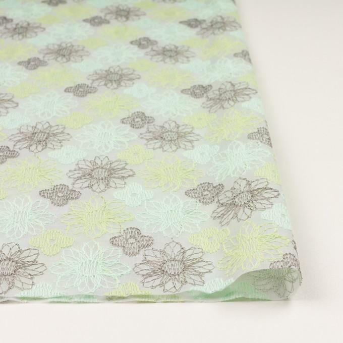 コットン×フラワー(ミント)×オーガンジー刺繍_全4色 イメージ3