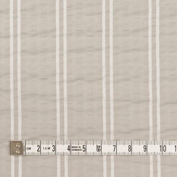 コットン&ポリエステル混×ストライプ(オイスター&ホワイト)×サッカー_全3色 イメージ4