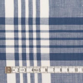 コットン&リネン×チェック(ヒヤシンスブルー)×ローン_全3色 サムネイル4