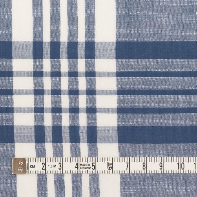 コットン&リネン×チェック(ヒヤシンスブルー)×ローン_全3色 イメージ4