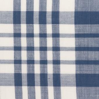 コットン&リネン×チェック(ヒヤシンスブルー)×ローン_全3色 サムネイル1