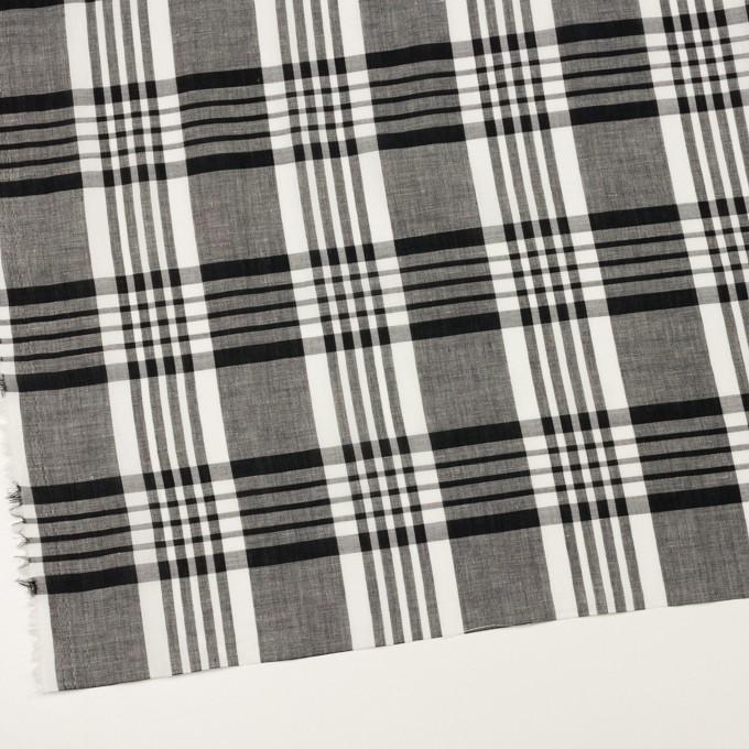 コットン&リネン×チェック(ブラック)×ローン_全3色 イメージ2