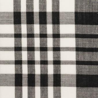 コットン&リネン×チェック(ブラック)×ローン_全3色 サムネイル1