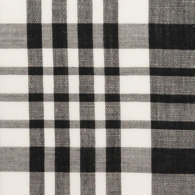 コットン&リネン×チェック(ブラック)×ローン_全3色 イメージ1